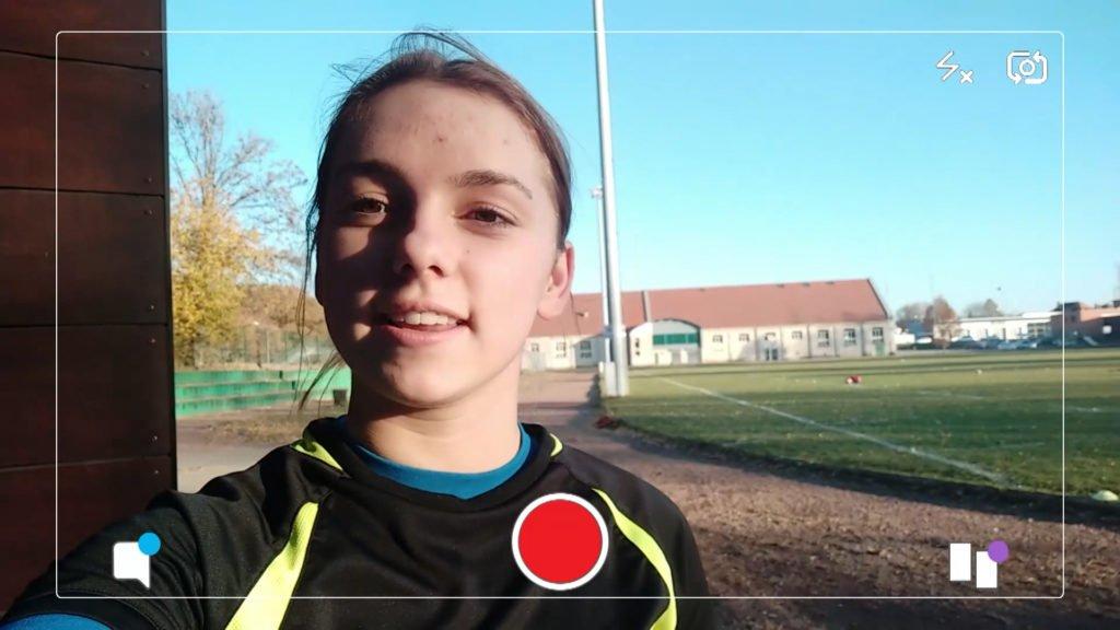 Florine fait du rugby