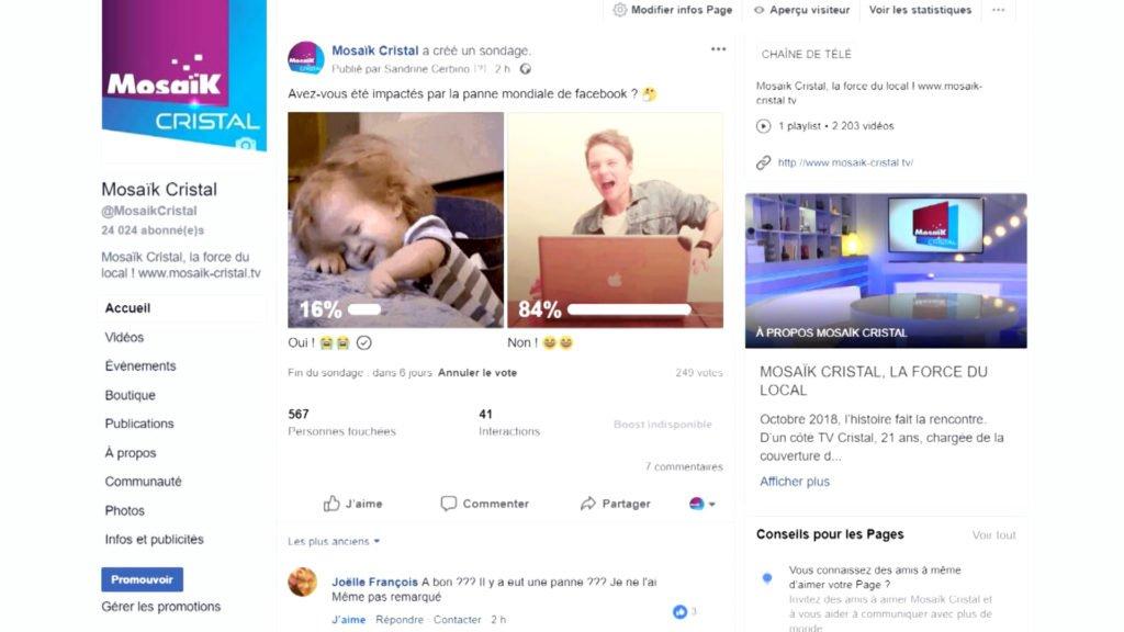 Avez-vous été impactés par la panne mondiale de Facebook ?