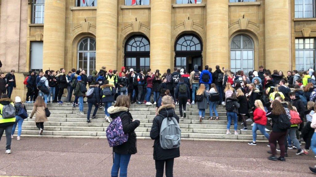Manifestation des lycéens à Sarreguemines