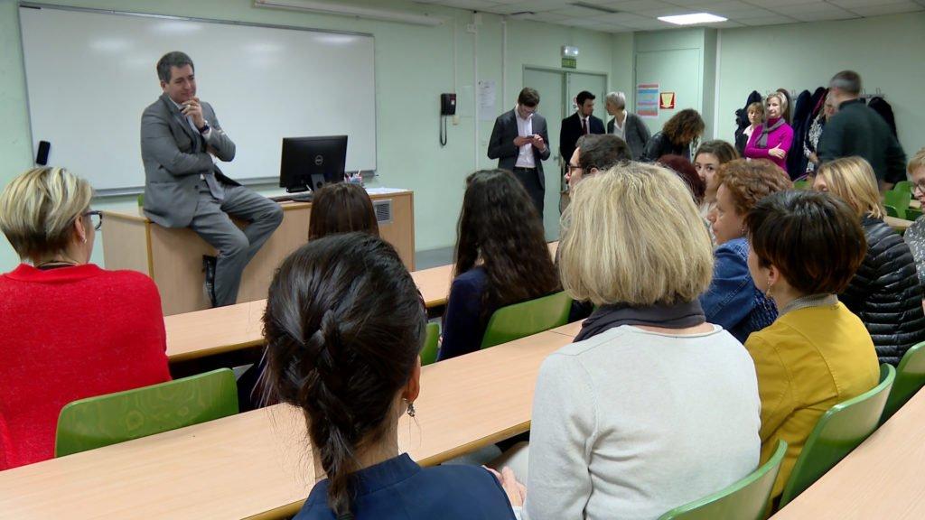 Le président de la Région Grand Est visite l'IFSI de Sarreguemines