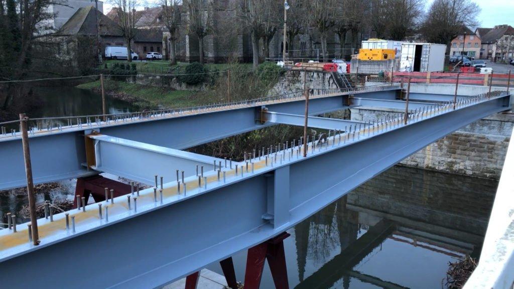 Avancement des travaux du pont de Sarralbe