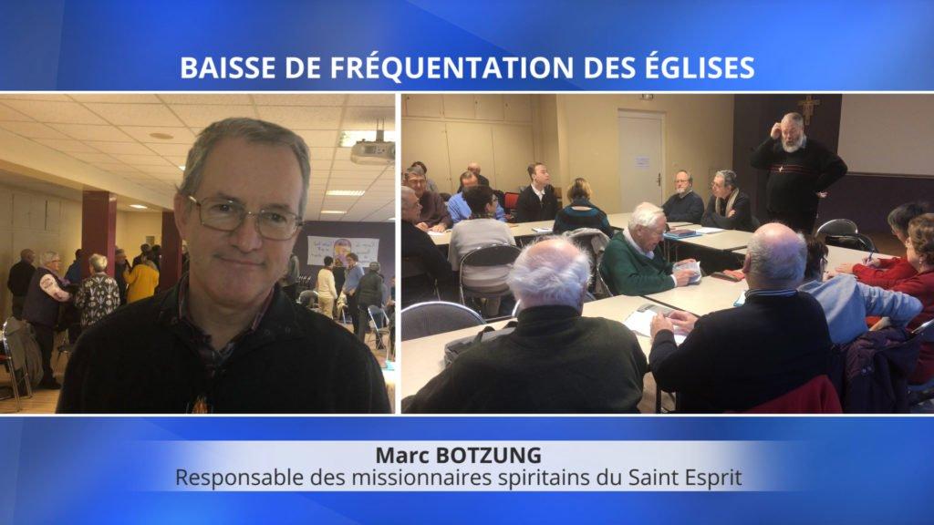 La fréquentation des églises est en baisse. Le point de vue de Marc Botzung