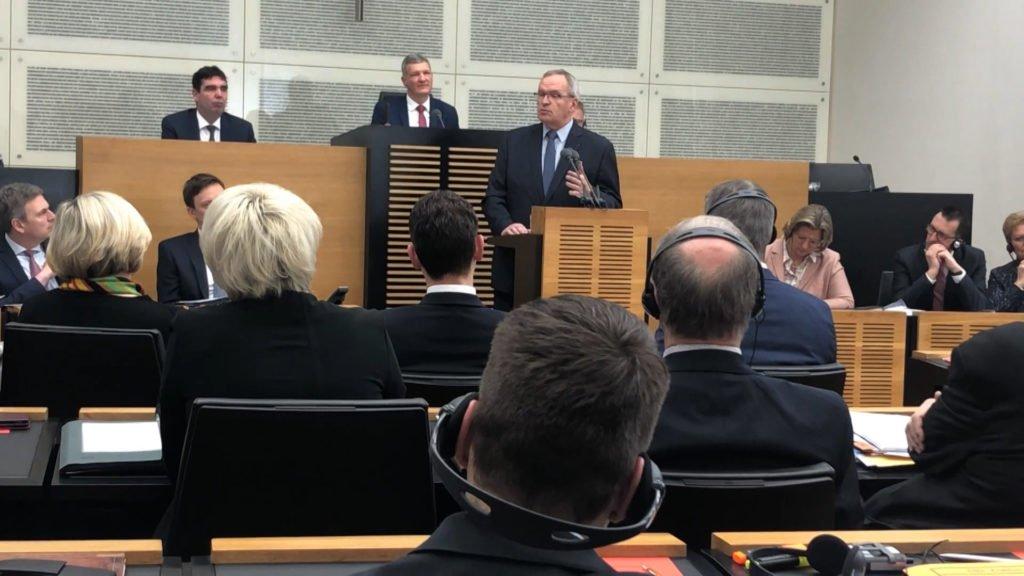 Patrick Weiten présente ses projets devant le Parlement régional allemand