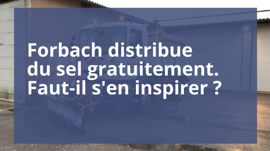 Forbach distribue du sel gratuitement à ses habitants