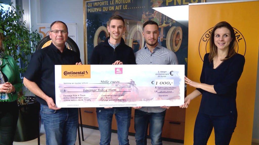 Continental Sarreguemines offre 1 000 € à deux étudiants de Sarreguemines !