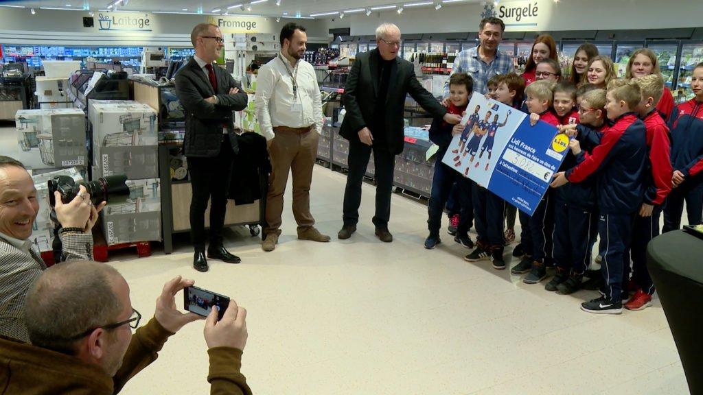 Le Magasin Lidl inauguré, plus de 3000 euros pour le hand sarregueminois
