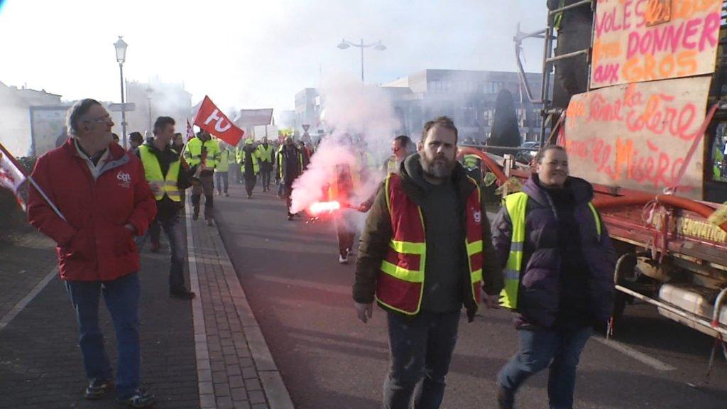 Manifestation départementale à Saint-Avold