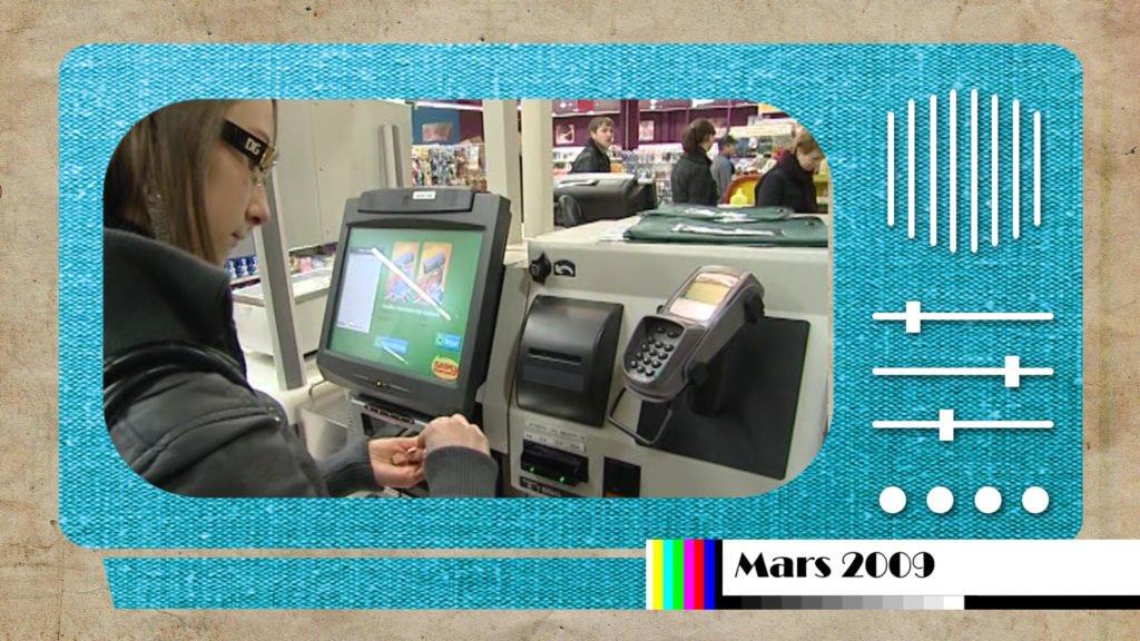 Les caisses automatiques sont apparues il y a 10 ans !