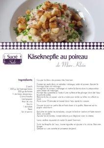 La recette de Marc KLEIN