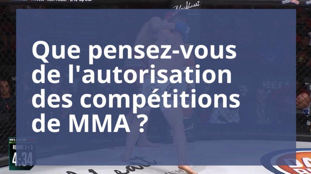 Pour ou contre la légalisation du MMA ?