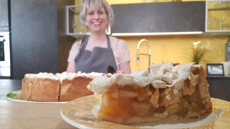 Gâteau aux pommes et meringue