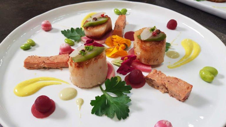 Noix de St Jacques et foie gras