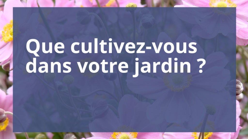 Que cultivez-vous dans votre jardin ?