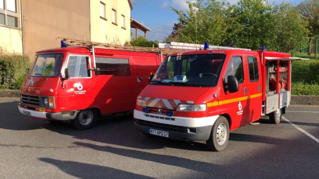Etting et son nouveau véhicule pompier
