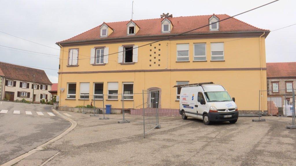 La mairie de Rahling en chantier
