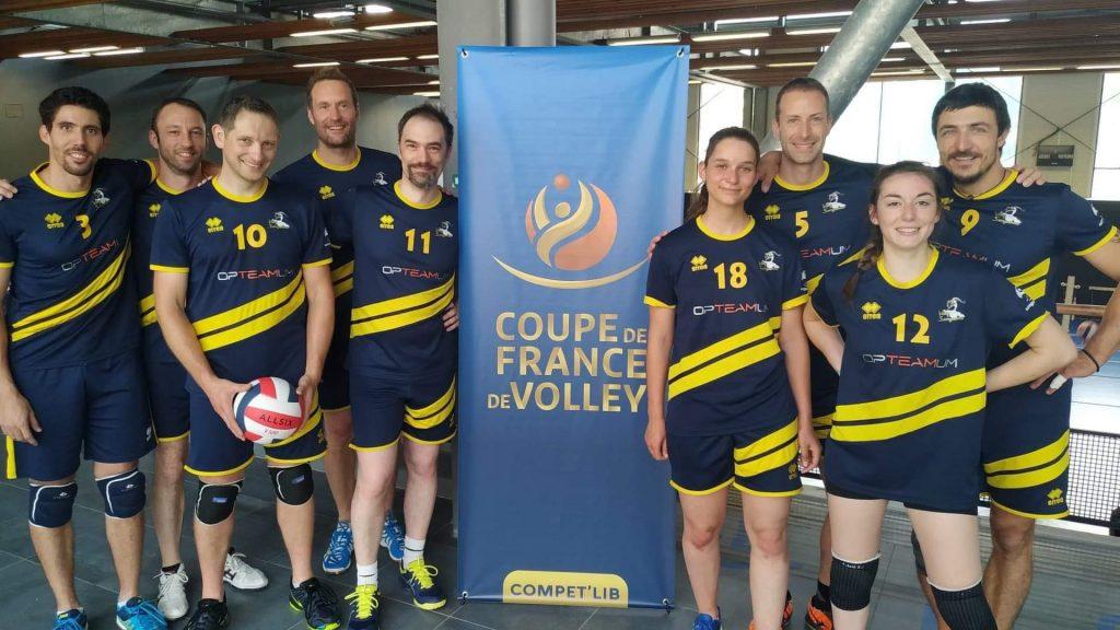 Le club de volley Sarreguemines en Coupe de France