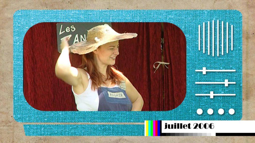 En 2006, une dresseuse de légumes au festival « Il été une fois »