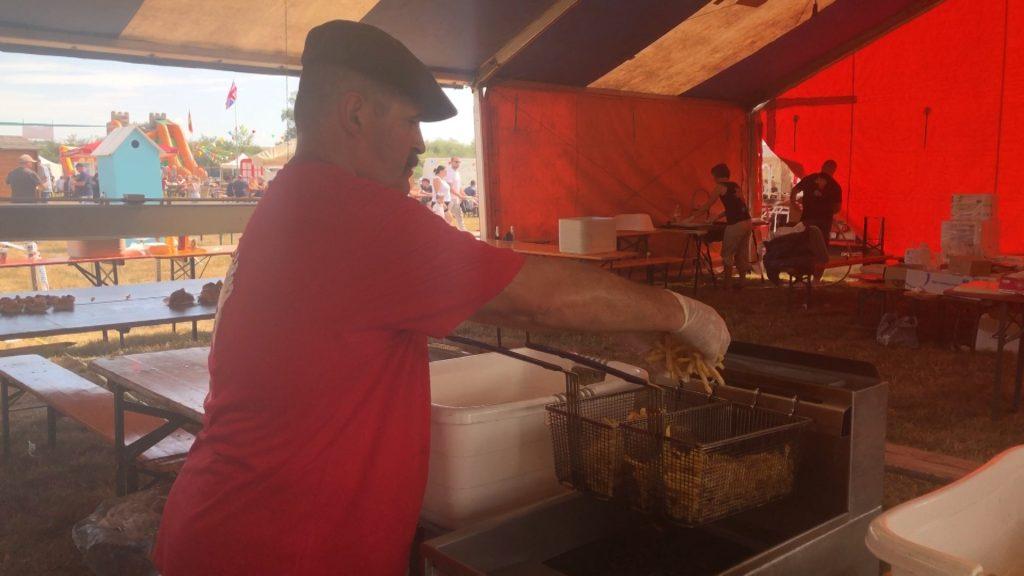 Le festival de la frite a survécu à la tempête