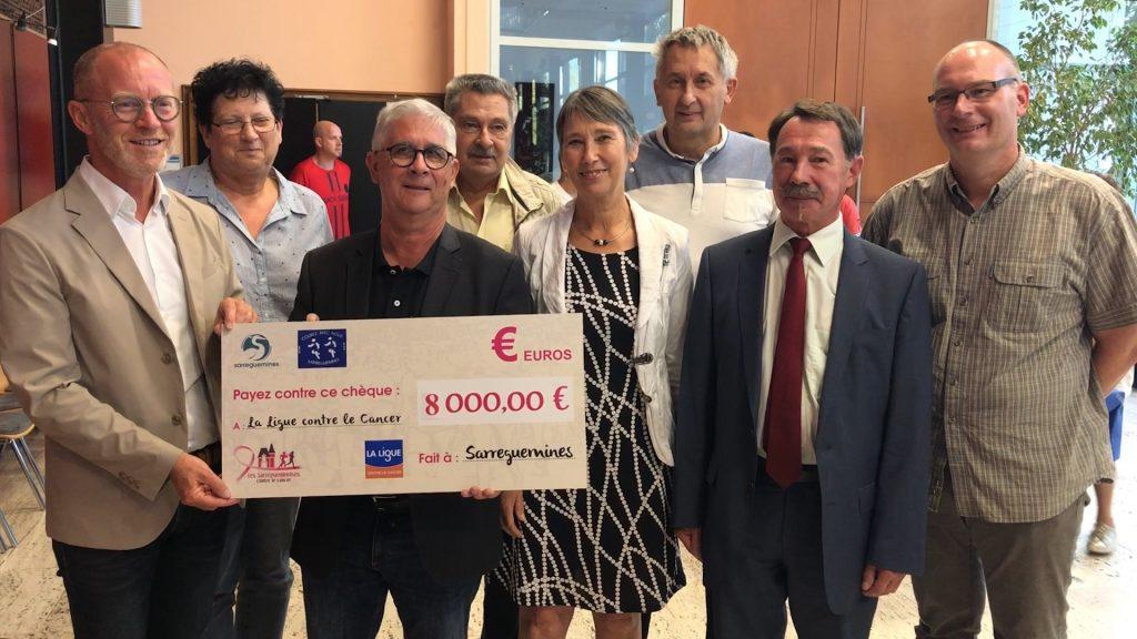 8 000 euros contre le cancer