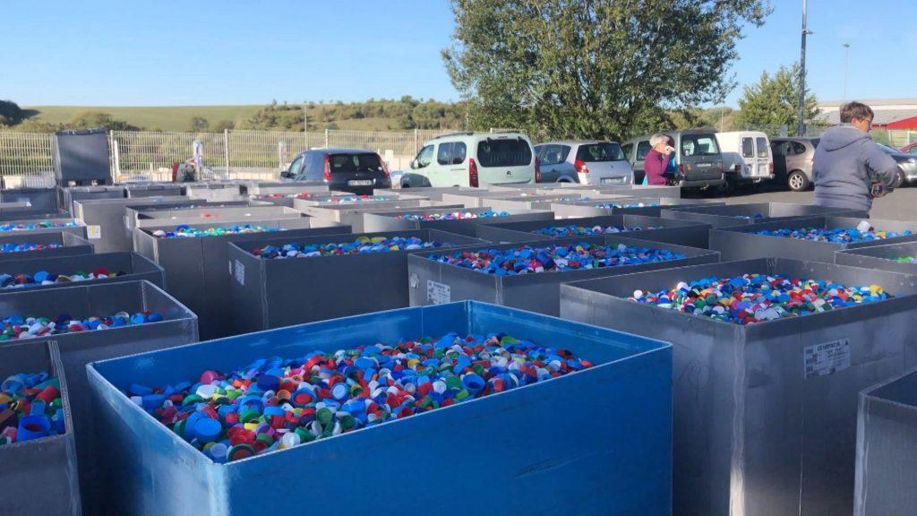 12 tonnes de bouchons pour les enfants malades
