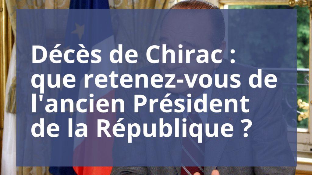 Décès de Chirac : les internautes réagissent