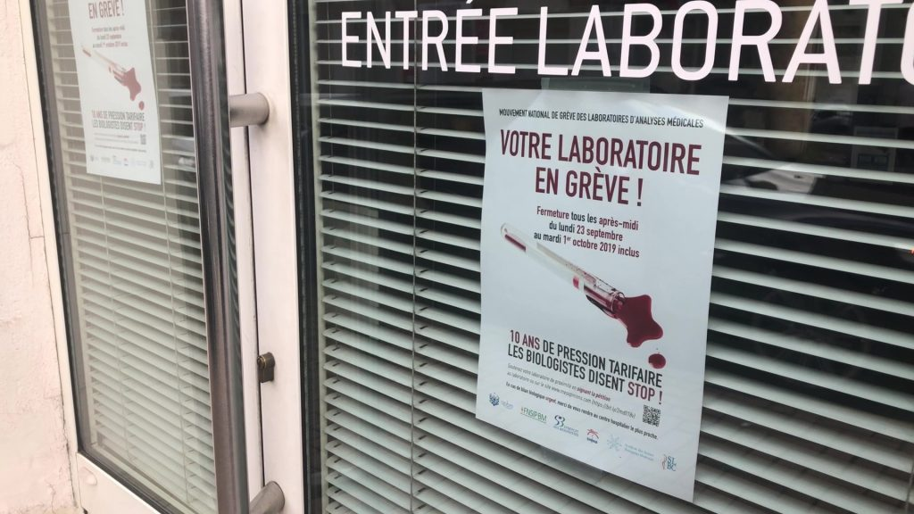 Les laboratoires d'analyse en grève