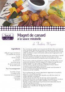 La recette de Frédéric Wagner