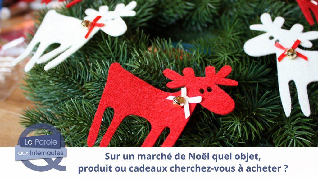 Quels produits achetez-vous sur les marchés de Noël ?