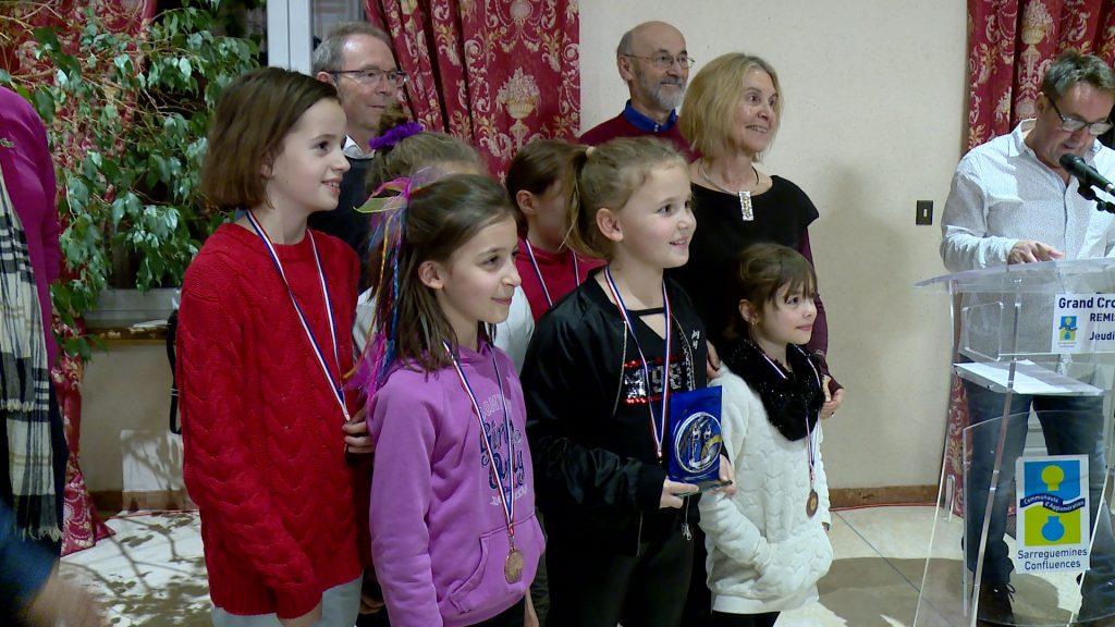 Les coureurs du cross de la CASC récompensés
