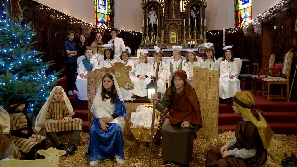 Les enfants ont présenté un spectacle de Noël
