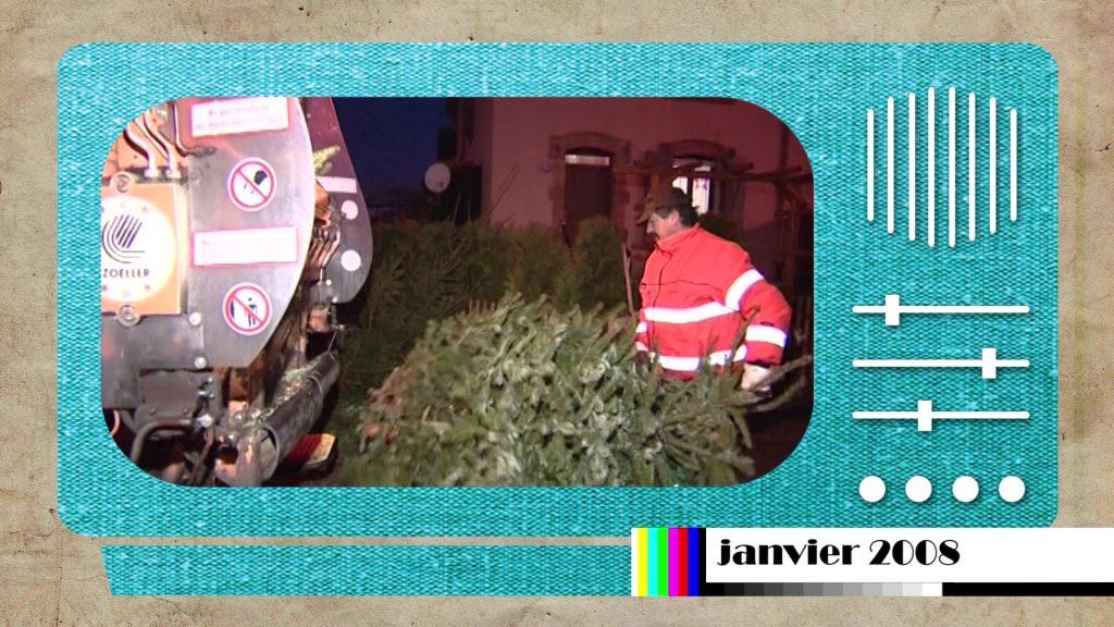 En 2008, 1ère collecte de sapins de Noël