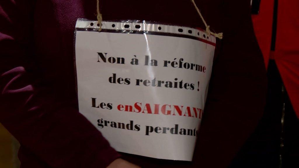 Une action originale contre la réforme des retraites