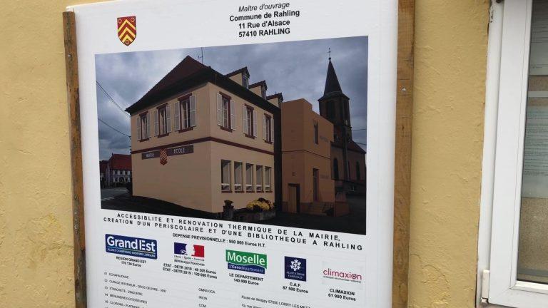 La mairie de Rahling en travaux