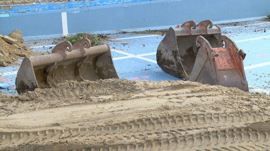 Démolition de la piscine de Hundling