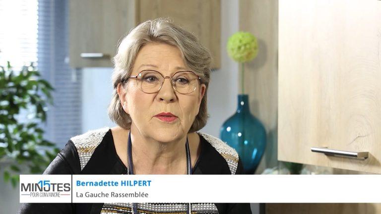 Bernadette Hilpert a 15 minutes pour convaincre