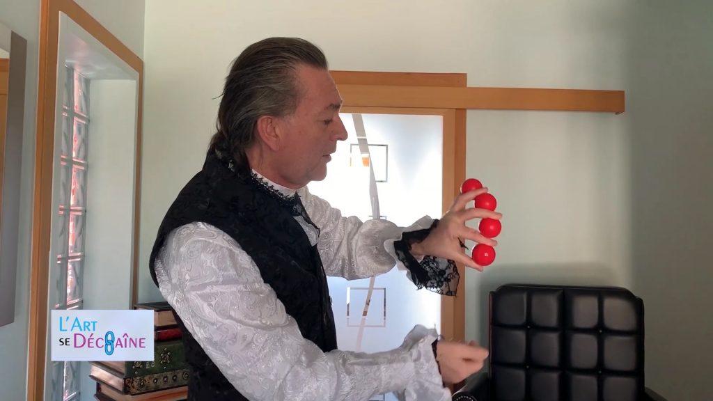 Alphonse le magicien, magie avec des boules