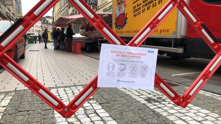 Le marché de Sarreguemines à nouveau ouvert