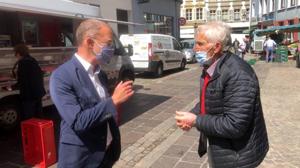 Le maire de Sarreguemines rencontre le terrain