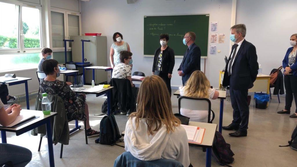 Visite du recteur au Lycée Teyssier de Bitche