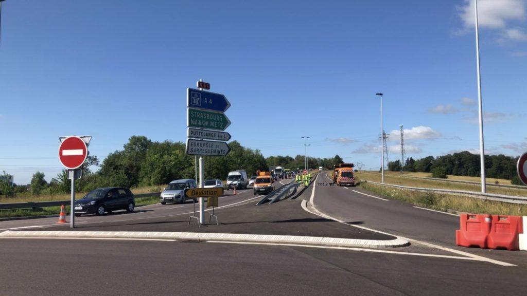 La 2x2 voies en travaux à Sarreguemines