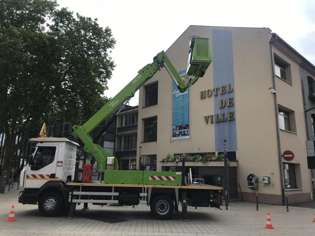 Sarreguemines a un nouveau camion-nacelle dernier cri !