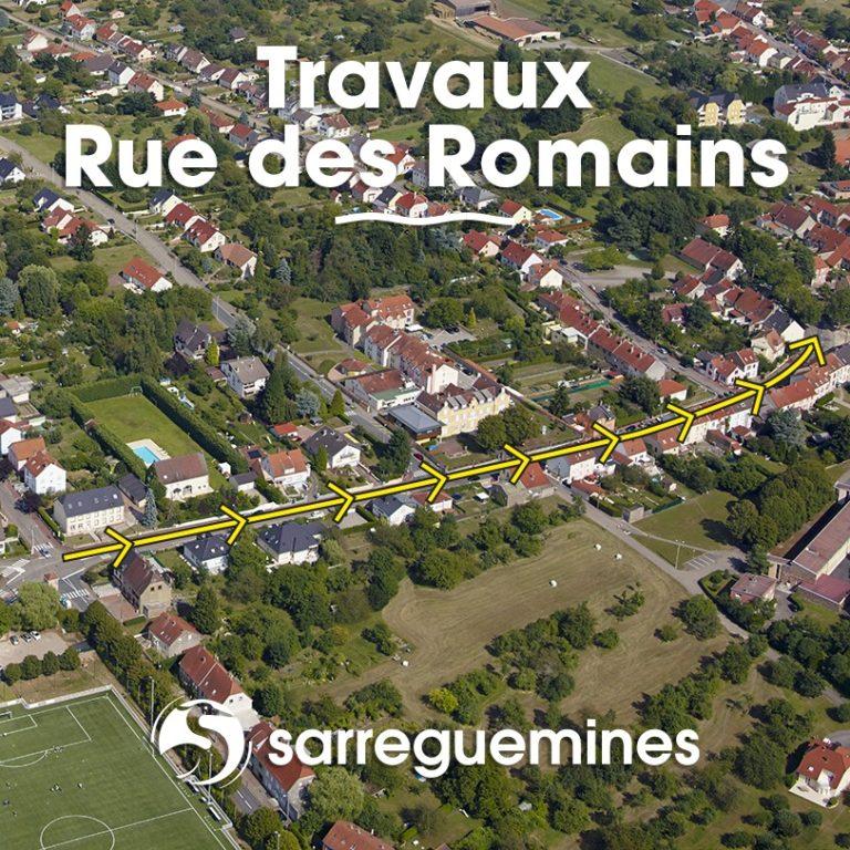 Rue des romains à Sarreguemines : la rénovation continue