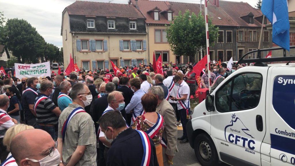 Manifestation à Sarreguemines