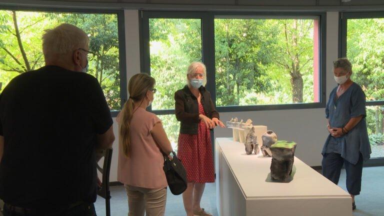 """Anne BULLIOT et Olivia LEFÈVRE ont accompagné les visiteurs sur leurs """"Chemins"""""""