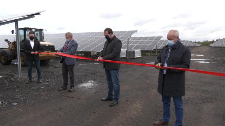 Le terril Wendel reconverti en centrale photovoltaïque