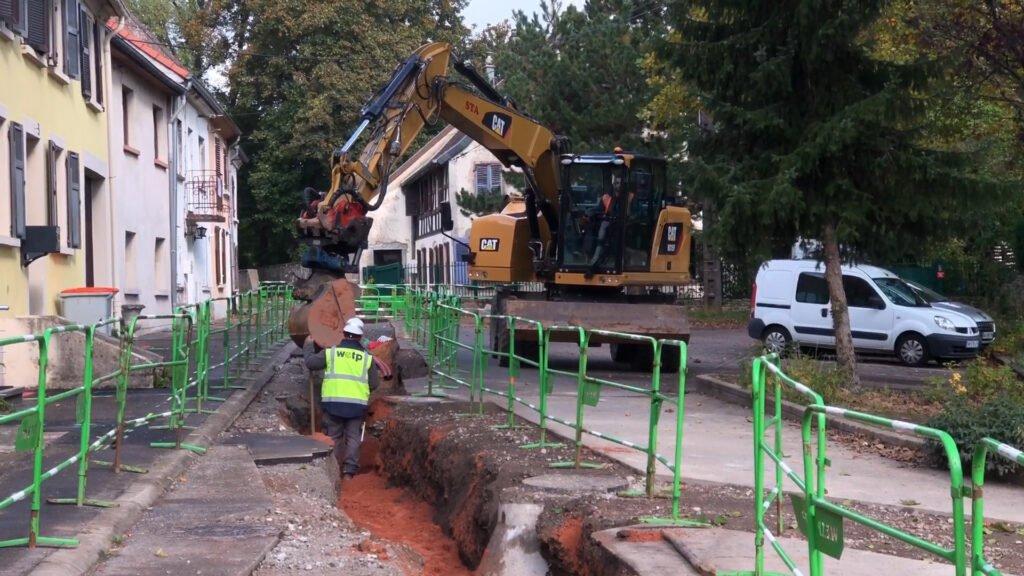 Mise en souterrain des réseaux secs à Neunkirch