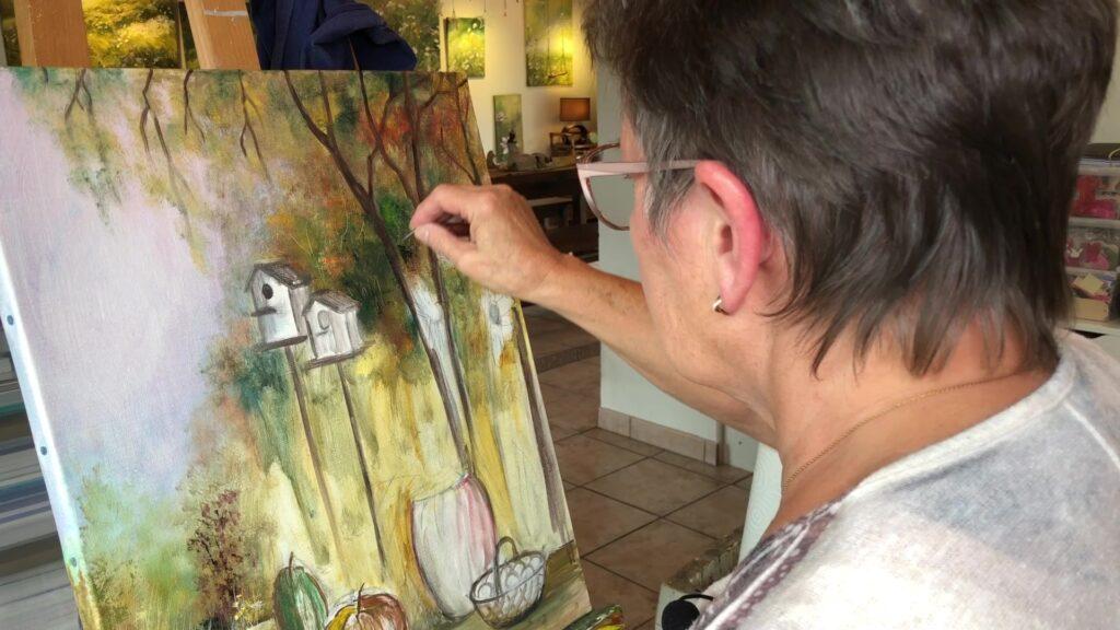 Evelyne Niesser, la peinture au fil des saisons