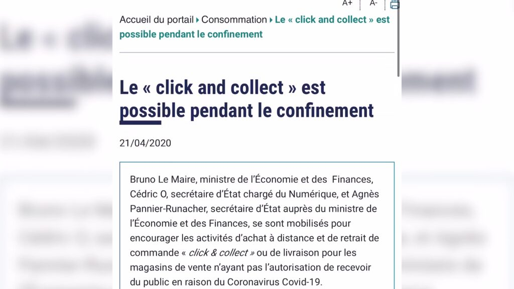 Le « click and collect »