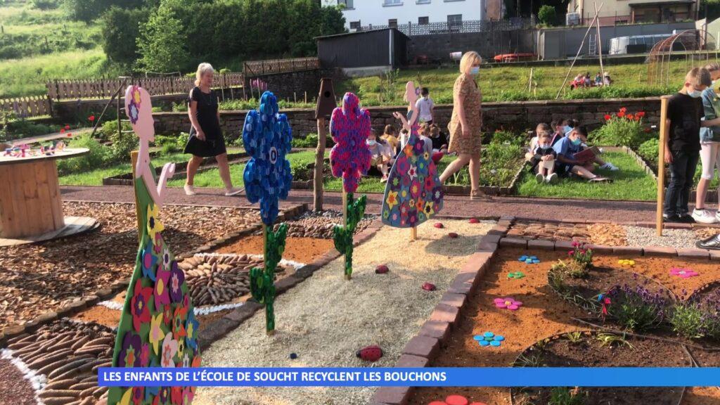 Les enfants de l'école de Soucht recyclent les bouchons