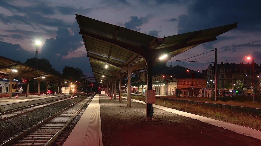 La gare de Sarreguemines en travaux